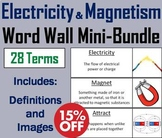Electricity and Magnetism Word Wall Mini Bundle