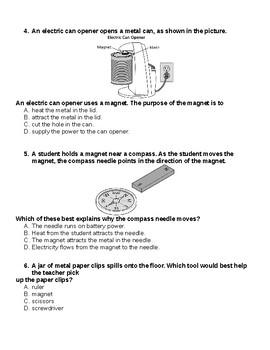 Magnets quiz
