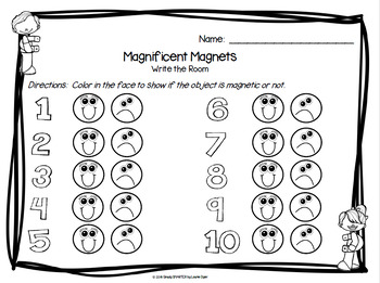 Magnificent Magnets:  LOW PREP Write the Room