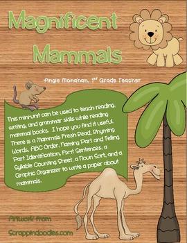 Magnificent Mammals Mini Unit