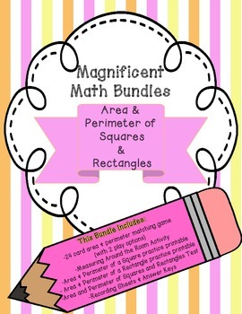 Magnificent Math Bundles: Area and Perimeter of Squares an