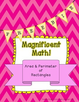 Magnificent Math Freebie Area and Perimeter of Rectangles