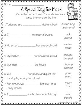 May NO PREP Printables!