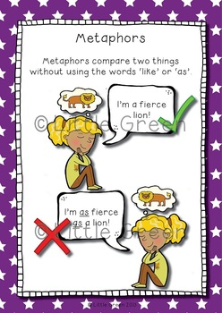 Magnificent Metaphors - Poster and Worksheets