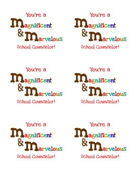 Magnificent and Marvelous School Counselor