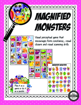 Magnified Monsters - Visual Perceptual Activity