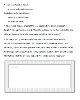 Magnifiers: Extra Resource - Printable Copy of the Book of Matthew Part 1