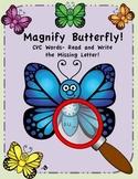 Magnify Butterfly - CVC Words