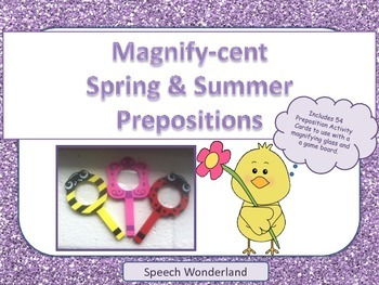 Magnify-Cent Spring and Summer Prepositions