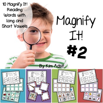 Long and Short Vowel Words: Magnify It 2! Games  by Kim Adsit