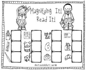 Magnify It 2: Long and Short Vowel Words! Games  by Kim Adsit