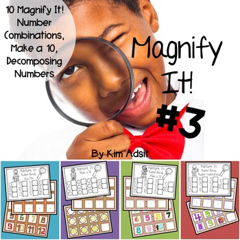 Number Bonds and Numerals 10-20: Magnify it 3! Games  by K