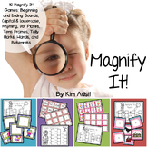 Magnify it: Letters, Sounds and Number! Games by Kim Adsit