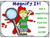 Magnify It! ~ Use a Magnifying Glass to Find the Hidden Words