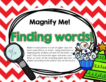Magnify Me! (holiday cupcakes and trees)