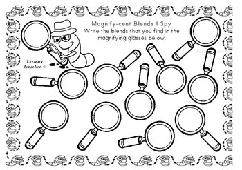 Magnifying Glass Search - Blends - US FONT VERSION