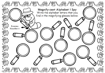 Magnify-cent Lowercase Alphabet Game - Australian Font