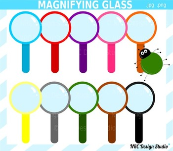 Magnifying glass bug clipart commercial use