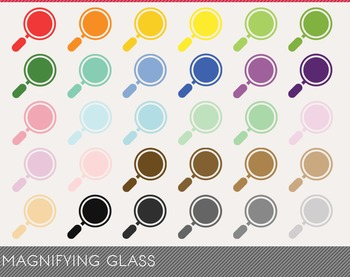 Magnifying Glass Digital Clipart, Magnifying Glass Graphics