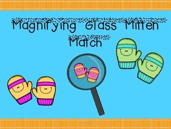 Magnifying Glass Mitten Match Freebie