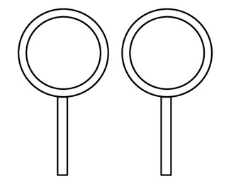 Magnifying Glass - Student Detective (w/ Black and White version for Colouring)