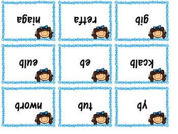 Magnifying Glass and Mirror Sight Word Kids Grade K-1 Centers