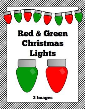 Red & Green Christmas Lights Clip Art