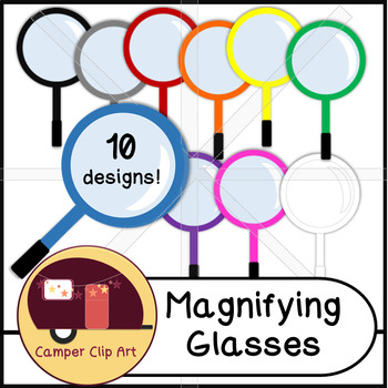 Magnifying Glasses Clip Art {CU - ok!}