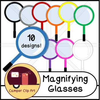 Magnifying Glasses Clip Art {CU - ok!}