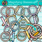 Rainbow Magnifying Glasses Clip Art {Science & Close Reading Graphics} 1