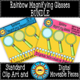 Magnifying Glasses Digital Moveable Pieces and Standard Cl