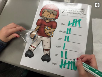 Sight Word: Magnifying Hunts (6 words per hunt)