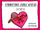 Magnifying Sight Words- Hearts