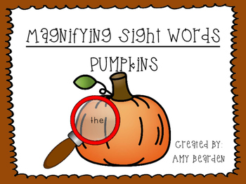Magnifying Sight Words: Pumpkins