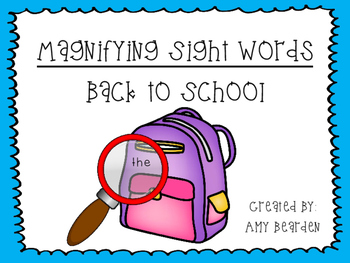 Magnifying Sight Words- School