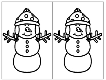 Magnifying Sight Words Snowmen