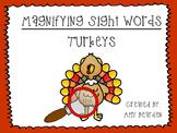 Magnifying Sight Words- Turkeys