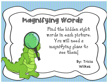 Magnifying Sight Words Year Long Bundle