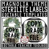 Modern Farmhouse Classroom Decor:  3 Drawer Sterilite Labels Editable