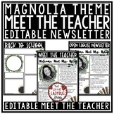 Farmhouse Meet the Teacher Letter: Back to School Night and Open House Form
