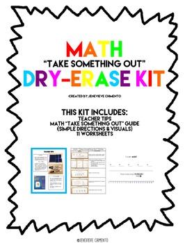 """Math """"Take Something Out"""" Dry-Erase Kit"""