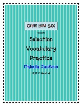 Mahalia Jackson - Selection Vocabulary