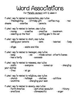 Mahalia Jackson Vocabulary Activities & Games- 5th Grade Unit 3, Story 4