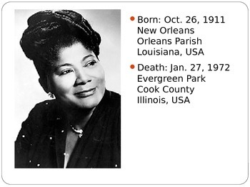 Mahalia Jackson - Who Was She?