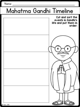 Mahatma Gandhi Biography Pack