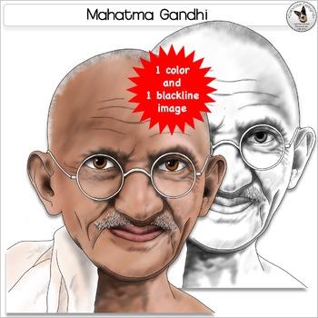 Mahatma Gandhi Clip Art Realistic Human Rights Leader