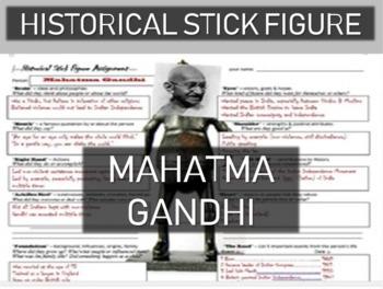 Mahatma Gandhi Historical Stick Figure (Mini-biography)