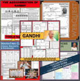 MAHATMA GANDHI BUNDLE Research Project Biography Graphic Organizer