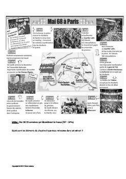 """Mai 68 : """"Manif"""" exercice de compréhension orale"""