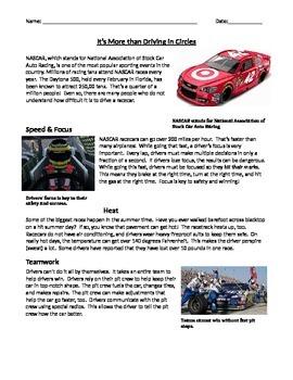 Main Idea: NASCAR